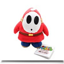 5 Official Shy Guy Soft Stuffed Plush